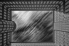 Looking up (T.Seifer) Tags: hamburg architecture monocrome schwarzweis blackandwhite bw blackwhite longexposure langzeitbelichtung whiteandblack weisschwarz weitwinkel building deutschland gebude