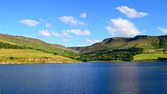 Blue Summer (J @BRX) Tags: summer july dovestones reservoir water peakdistrict peaks hills clouds sky still calm clear greenfield oldham lancashire nationalpark blue england