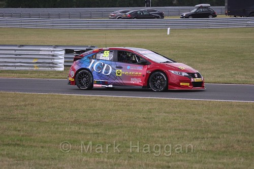 Jeff Smith in Touring Car action during the BTCC 2016 Weekend at Snetterton