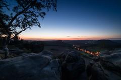 Late sunset (derliebewolf) Tags: samyang sunset bluehour landscape travel hiking nature ultrawideangel natur germany clouds light trees night goldenhour sky bluesky
