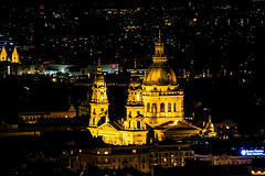 Saint Stephan's at Night (mikebakker2) Tags: budapest   magyarorszg ungarn hungary hungra ungheria  city   night nightphotography panorama panoramic view views longexposure light lights architecture composition church basilica temple closeup detail details urban exploration urbanexploration travel traveling traveler world europe europa   eurpa