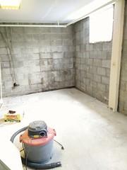 Down to the bones (lizzardo) Tags: basement cinderblock wall repair renovation