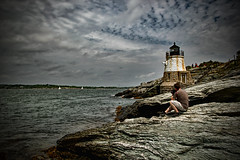 Im watching you (Silverio Photography) Tags: photography newengland newport rhode island ocean lighthouse summer coast sea canon 60d sigma 1770 photoshop elements topaz adjust hdr
