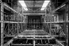 in.comprehension (jonathancastellino) Tags: toronto architecture ruins ruin derelic decay abandoned hearn leica m incomprehension vast structure beam beams stairs stairway vanish window glass up powerstation industrial ngc