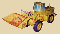 Front Loader TO-28 Ver.2 Free Construction Vehicle Paper Model Download (PapercraftSquare) Tags: 137 constructionvehicle frontloader loader to28 vehiclepapermodel