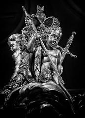 Gilded Cherubs (Andy J Newman) Tags: london england unitedkingdom gb cherub gold golden state coach goldstatecoach royal mews buckingham palalce buckinghampalace royalmews silverefex hdrefex hdr nikon d500