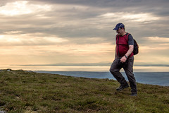 Steve heading for the top (allybeag) Tags: bakestall wainwright lakedistrict fellwalking wainwrightbagging steve walking man sunset sky solway scotland galloway hills