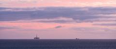 Oil Rig and Boat (Geoff France) Tags: dawn sunrise moray moraycoast hopman covebay cove scotland highlands scottishhighlands landscape scottishlandscape