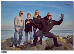 Zander Team (FotoBart) Tags: city sunset sea portrait sky people woman man male men beach smile fashion sport wales female clouds standing happy photography seaside spring sand nikon glow photographer photoshoot outdoor body muscle muscular great cardiff bodybuilding fitness modelling d810