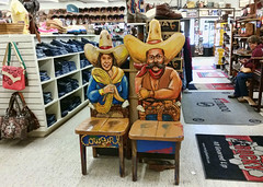 Yeehaw (Helen Orozco) Tags: cowboy chairs seat western cowgirl quirky wrangler yeehaw