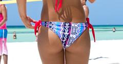 Cuba 1187crop (losicar) Tags: sea beach sand candid cuba bikini thong bums