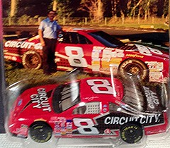 #51-45, Hut Stricklin, #8, Circuit City, Pictures With Real Hot Wheels Cars & Their Diecast (Picture Proof Autographs) Tags: photograph photographs inperson pictureproof photoproof picture photo proof image images collector collectors collection collections collectible collectibles classic authentic authenticated real genuine diecast auto autos vehicles vehicle model toy toys automobile automobiles autoracing sport sports nascar series winstoncup sprintcup busch nationwide hotwheels fred frederick weichmann