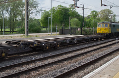 92562 Northampton 300414 (Dan86401) Tags: wagon northampton flat container fl 92 freight modal rls kfa freightliner intermodal wcml 92562 railease 4m87 standardwagon rls92562
