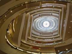 Stairway to Heaven (AsherBlue) Tags: sanfrancisco building lines architecture travels geometry indoor nordstrom thingsarelookingup linescurves