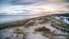 Beach huts in the morning (flowed_back) Tags: longexposure sea sky beach clouds zeiss landscapes nikon sweden ljunghusen leefilters zf2 distagont2821 leethebigstopper lee09softgnd d800e leelandscapepolariser