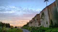 Noise Barrier (timo_w2s) Tags: sunset summer finland evening helsinki harbour baltic vuosaari noisebarrier melusein