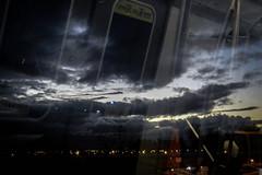 X (Comandante Molotov.) Tags: chile city santiago winter cidade sky cloud clouds train dark exposure skies metro doubleexposure double cielo invierno citta scl stgo darnkess