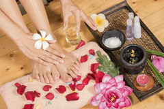 Spa foot (Mangpink) Tags: spa treatment leg aroma relax salon human clean nail care fresh closeup pedicure liquid foot wellness people female therapy purple body woman color procedure skin background alstroemeria toe metal wet toenail natural plate bowl flower concept lifestyle healthy beauty beautiful hygiene candle water manicure
