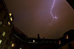Lightning (maekke) Tags: sky urban color nature rain clouds canon switzerland cloudy thunderstorm lightning zrich tamron ch 2016 eos6d
