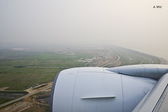 Landing at Seoul Incheon (A. Wee) Tags: korea  incheon airport  seoul  landing sunset