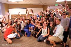 Team Celebration As Signatures Delivered (Greenpeace USA 2016) Tags: colorado ban fracking petition truck delivery fossilfuel oil gas denver coalition