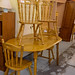 Oval hardwood kitchen table cw 4 chairs  €170