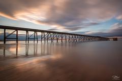 Smooth shore (Steve Clasper) Tags: uk longexposure sunset sea beach coast pier north coastal shore northern northeast nd110 steetleypier steveclasper