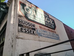 Hudson Essex Service (Thad Zajdowicz) Tags: sign wall painted old vintage automobile hudson essex jackbenny garage greenstreet pasadena california zajdowicz americana text writing letters words cellphone photoshopexpress motorola droid turbo smartphone cameraphone outdoor outside availablelight history 366 365 signboard architecture building