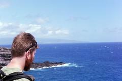 Will in Honolua Bay (kawehna) Tags: pentax k1000 35mm fujifilm colorfilm filmisnotdead ishootfilm asahi hawaii travel adventure blowhole maui vacation wanderlust pacificocean island