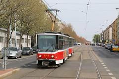 2016-05-03, Praha, Vozovna Zizkov (Konevova) (Fototak) Tags: tram strassenbahn tatra t6 praha czechrepublic ligne11 8711
