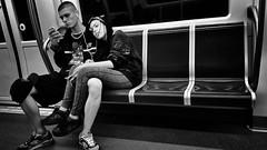 Rome: Underground by night (ezio.scotti) Tags: 2016 anni bw gente lazio metro roma veicoli