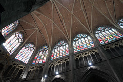 Soaring stained glass (quinet) Tags: 2014 belgium bruges ghent glasmalerei saintbavocathedral stainedglass vitrail antwerp flanders