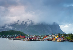 Fishing village (andreassofus) Tags: lofoten norway reine clouds mountains boats water sky travel travelphotography nature landscape grandlandscape summer summertime canon