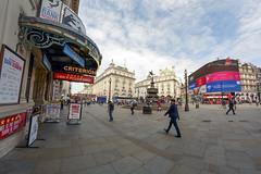 Picadilly Circus, London (Digital Biology) Tags: picadilly circus london fisheye