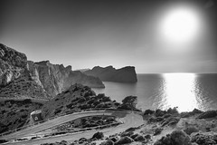 Sunset (kecal_2) Tags: pentax pentaxk3 k3 mallorca spain balearicislands capformentor sunset blackandwhite bw sea
