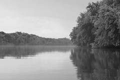tranquility (David Sebben) Tags: tranquility rock river rockisland illinois black white monochrome calm