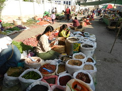 Kalaw (simo2582) Tags: people asian asia burmese shanstate shan birma birmania burma myanmar market kalaw human trade typical hilltribes tribes mountain hillstation village countryside travel reise blick unterwegs world traditional 5daysmarket groceries street spices