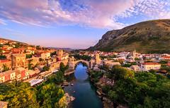 Stari Most- Mostar (davecurry8) Tags: mostar bosnia bosniaandherzegovina oldbridge starimost river cityscape minaret