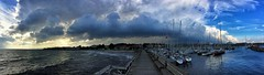 Todays Clouds (davidredjoy) Tags: ystad sweden clouds colors beauty nature ocean trees