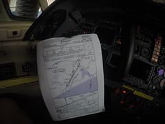Flugplan im Cockpit