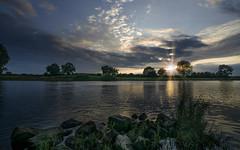 Sundown @ Gennep (RigieNL) Tags: hdr gennep maas water rivier river nature natuur nederland netherlands limburg ngc
