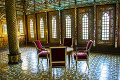 Je ne veux que toi. (- Ali Rankouhi) Tags: iran tehran golestan palace   building windcatcher stained glass art chair