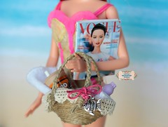 ** On Summer days there is nothing like going for a walk at the beach. ^_^ Mariana is enjoying this Summer day. ** ( Little Enchanted World ) Tags: summer beach bags handmade by me little enchanted world cute 16scale dolls barbie poppyparker sun magazine