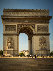 Arc de Triomphe (Arlo Bates) Tags: paris august summer hot s120 canon canons120 arcdetriomphe champslyses europe2016