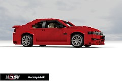 HSV Coupe4 (2004) (lego911) Tags: hsv holden special vehicles coupe 4 coupe4 v8 ls1 2004 auto car moc model miniland lego lego911 ldd render cad povray 4wd awd australia aussie lugnuts challenge 106 exclusiveedition exclusive limited edition sport luxury 2000s foitsop