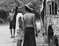 Intriguing (Cheryl Atkins) Tags: street streetphotography streetlife streetscenes baltimore fujixt1 mono monochrome blackandwhite