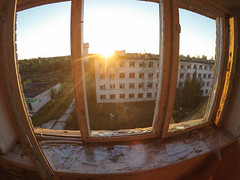 Skrunda-1 (greenvisuals) Tags: gopro skrunda haunted ghost city wide fish eye golden hour summer autumn fall