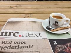 Entrepotdok, espresso & NRC (jpmm) Tags: 2016 amsterdam nrc espresso cafrestaurant terras 257 bocca