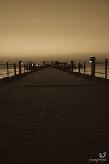 Light at the end (Bishoy Micheal) Tags: thisisegypt egypt bridge sunrise redsea blackandwhite hurghada long