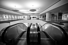 1950 (Thomas Hawk) Tags: california bw usa architecture unitedstates unitedstatesofamerica escalator eastbay kaiserbuilding fav10 oakalnd